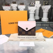 Louis Vuitton N60167 Zoé WALLET Damier Ebene Canvas Rose Ballerine