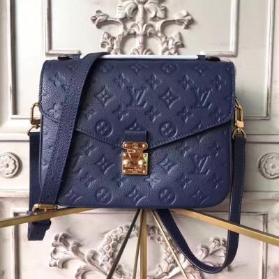 Louis Vuitton M41487 Pochette Metis Monogram Empreinte Leather Navy