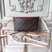 Louis Vuitton M41638 Pallas Monogram Canvas Leather Clutch Bag