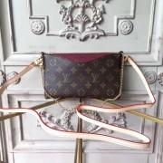 Louis Vuitton M41638 Pallas Monogram Canvas Leather Clutch Bag