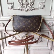 Louis Vuitton M41639 Pallas Monogram Canvas Leather Clutch Bag Noir