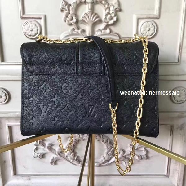 457ada5e3917 Louis Vuitton M43392 Saint Sulpice PM Monogram Empreinte Leather Noir