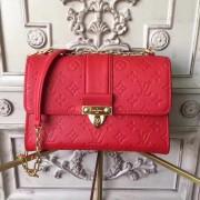 Louis Vuitton M43393 Saint Sulpice PM Monogram Empreinte Leather Cerise