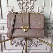 Louis Vuitton M43395 Saint Sulpice PM Monogram Empreinte Leather Taupe Glace