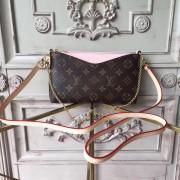 Louis Vuitton M44037 Pallas Monogram Canvas Leather Clutch Bag Rose poudre