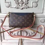 Louis Vuitton M44058 Pallas Monogram Canvas Leather Clutch Bag Bleu Marine