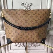 Louis Vuitton M44130 Triangle Softy Monogram Reverse Canvas