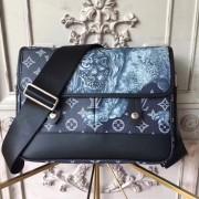 Louis Vuitton M54248 Encre Monogram Savane Canvas Messenger PM Bag