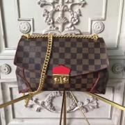 Louis Vuitton N41596 Caissa Clutch Damier Ebene Canvas Cherry