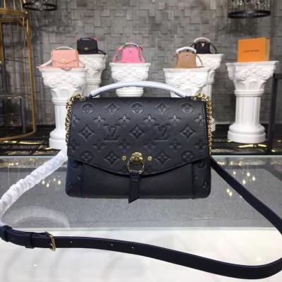 Louis Vuitton M43624 Blanche BB Monogram Empreinte Leather Noir