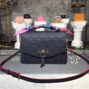 Louis Vuitton M43781 Blanche BB Monogram Empreinte Leather Marine Rouge