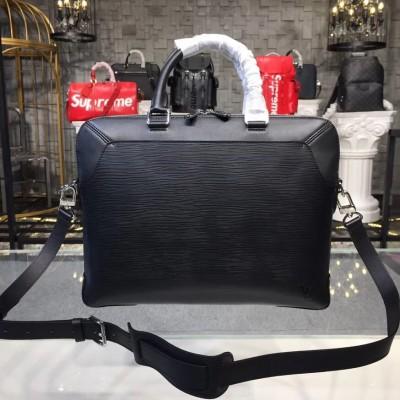 Louis Vuitton M51689 Oliver Briefcase Epi Leather Noir