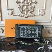 Louis Vuitton M64433 iPhone Pouch Monogram Eclipse Flash