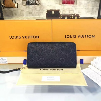 Louis Vuitton M60571 Zippy Wallet Monogram Empreinte Leather Noir