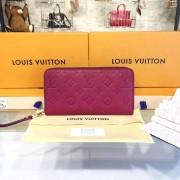 Louis Vuitton M60571 Zippy Wallet Monogram Empreinte Leather Fuchsia