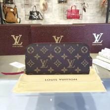 Louis Vuitton M60742 Clémence Wallet Monogram Canvas Fuchsia
