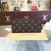 Louis Vuitton M60742 Clémence Wallet Monogram Canvas Corail