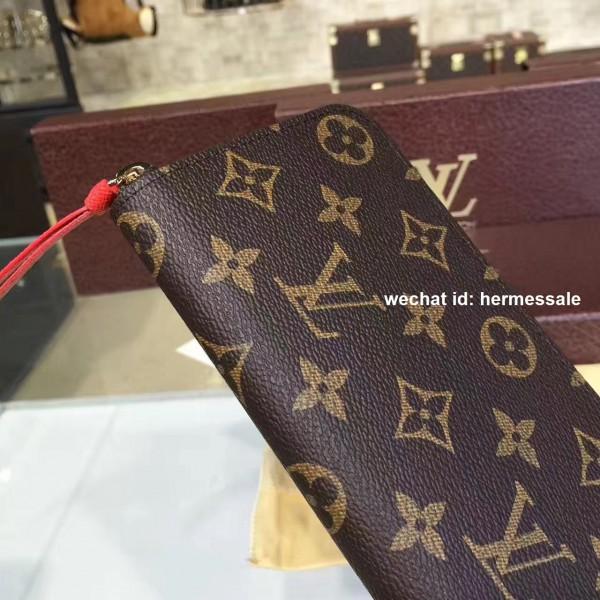 new style 5666a 634c3 Louis Vuitton M60742 Clémence Wallet Monogram Canvas Orange