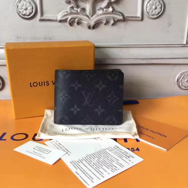 2fe9f788ff22 Louis Vuitton M61695 Multiple Wallet Monogram Eclipse Canvas