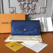 Louis Vuitton M62125 Sarah Wallet Monogram Empreinte Leather Marine rouge