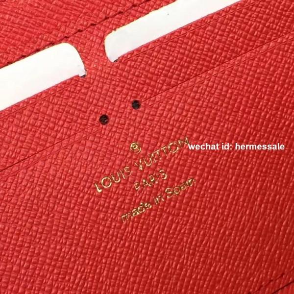 new arrival a7a29 54d76 Louis Vuitton N60534 Clémence Wallet Damier Ebene Canvas Cherry