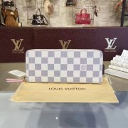 Louis Vuitton N61264 Clémence Wallet Damier Azur Canvas Rose Ballerine
