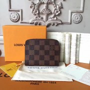 Louis Vuitton N63070 Zippy Coin Purse Damier Ebene Canvas