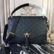 Louis Vuitton M43616 Blanche MM Monogram Empreinte Leather Noir