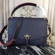 Louis Vuitton M43618 Blanche MM Monogram Empreinte Leather Marine Rouge