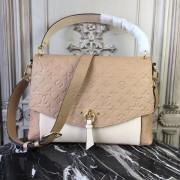 Louis Vuitton M43619 Blanche MM Monogram Empreinte Leather Papyrus Creme