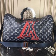Louis Vuitton M43684 Keepall Bandoulière 50 Monogram Upside Down Canvas