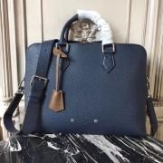 Louis Vuitton M53490 Armand Briefcase PM Taurillon Leather Navy