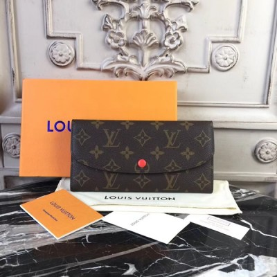 Louis Vuitton M60697 Emilie Wallet in Monogram Canvas Corail