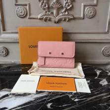 Louis Vuitton M62184 Pont-Neuf Compact Wallet Monogram Empreinte Pink