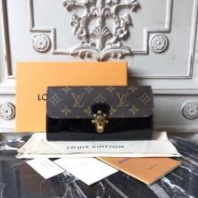 Louis Vuitton M62558 Cherrywood Wallet Patent Leather Noir