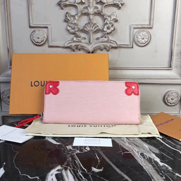 8a132af63e9e Louis Vuitton M62967 Clémence Wallet Epi Leather Rose Ballerine Coquelicot