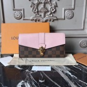 Louis Vuitton N64447 Clapton Wallet in Damier Canvas and Leather Magnolia