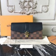 Louis Vuitton N64449 Clapton Wallet in Damier Canvas and Leather Noir