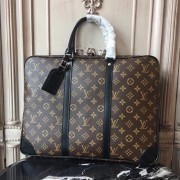 Louis Vuitton M40225 Porte-Documents Voyage Monogram Macassar Canvas