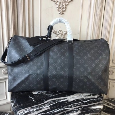 Louis Vuitton M40605 Keepall Bandoulière 55 Monogram Eclipse Canvas