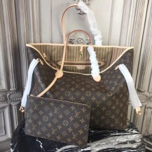 Louis Vuitton M40990 Neverfull GM Monogram Canvas Beige