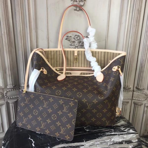 511cbbd46617 Louis Vuitton M40995 Neverfull MM Monogram Canvas Beige