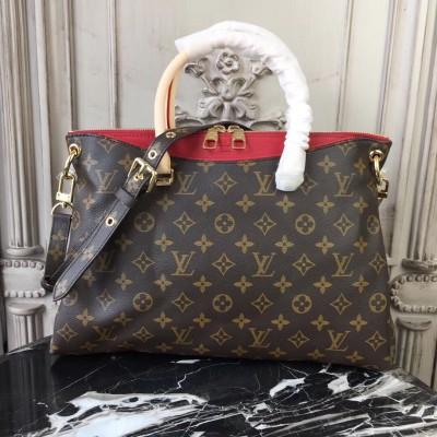 Louis Vuitton M41175 Pallas Monogram Canvas and Leather Handbag Cherry