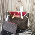 Louis Vuitton M41177 Neverfull MM Monogram Canvas Cherry