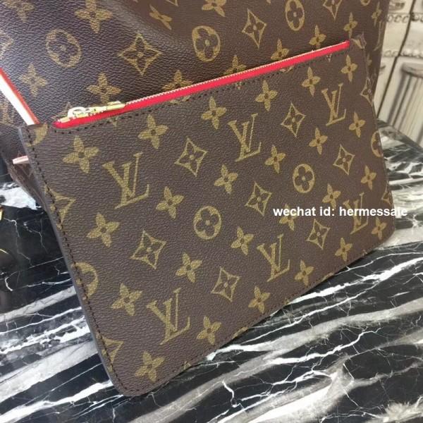 Louis Vuitton M41177 Neverfull MM Monogram Canvas Cherry 64c51ab29d570