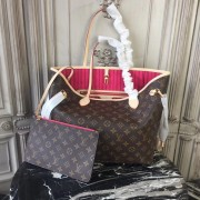 Louis Vuitton M41178 Neverfull MM Monogram Canvas Pivoine