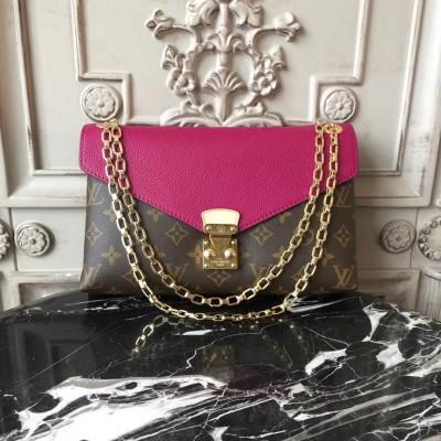 Louis Vuitton M41223 Pallas Chain Monogram Magenta