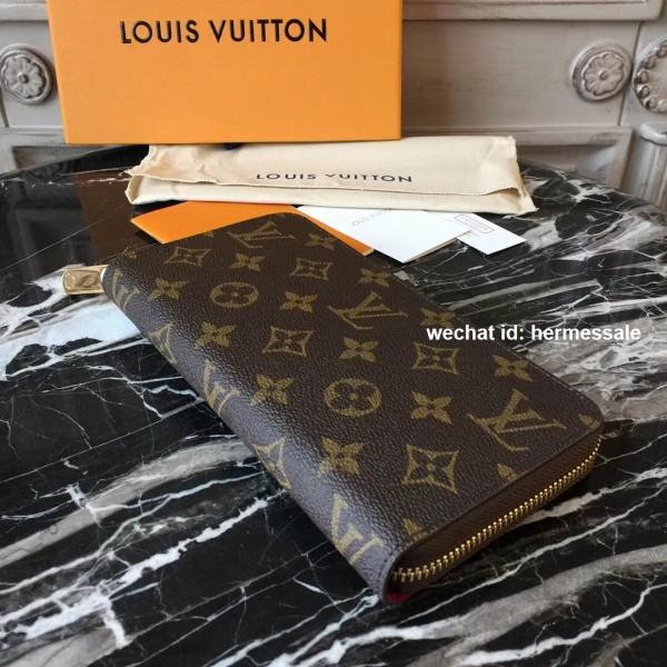e9e66235d17b2 Louis Vuitton M41895 Zippy Wallet Monogram Canvas Fuchsia