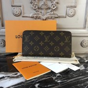 Louis Vuitton M41896 Zippy Wallet Monogram Canvas Coquelicot