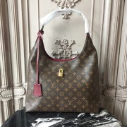 Louis Vuitton M43547 Flower Hobo Monogram Canvas Bordeaux
